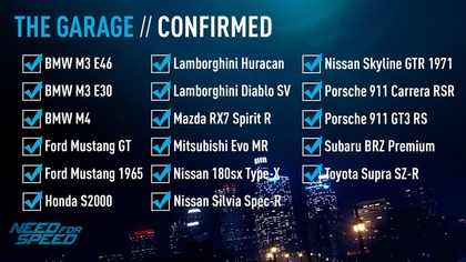 Confirmed Cars