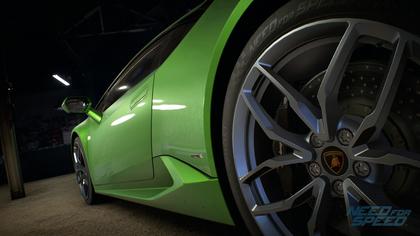 NFS grüner Lamborghini