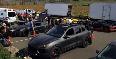 NFS film: McLaren P1 e altri bolidi sul set del film