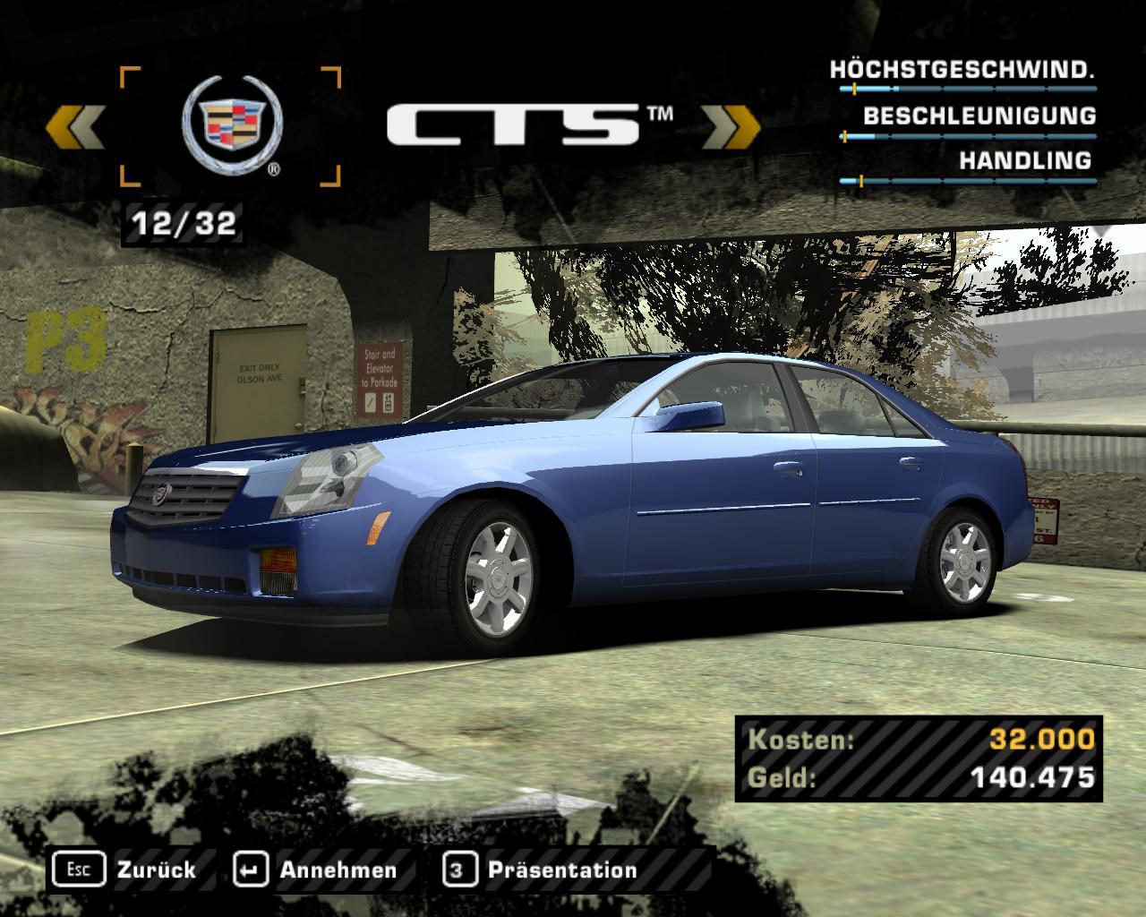Screenshot: images/nfsmw/carlist/cadillacctsjpg
