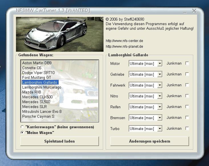 Не забудьте запустить SaveEditor и нажать FixChkSum. NFS MW2005 Программы.