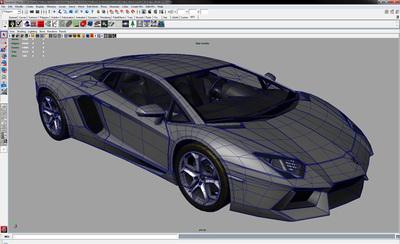 Lamborghini Aventador Texture Wire