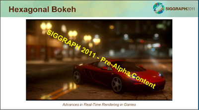 NFS The Run Bokeh Filter @ Siggraph 2011